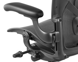 Armrest on the best office chair for back bain