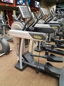 Row of ellipticals, showing how to buy an elliptical