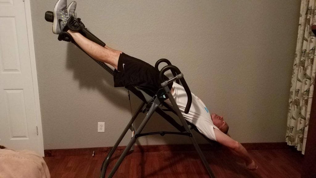 Using an inversion tables for back pain relief