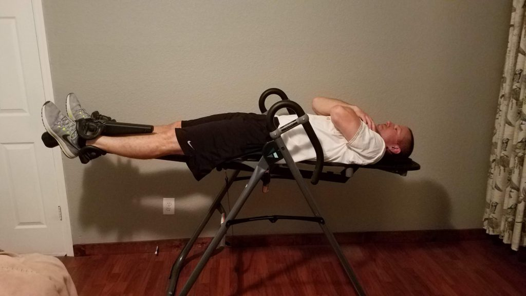 inversion table for low back pain