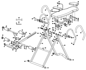 Inversion table parts