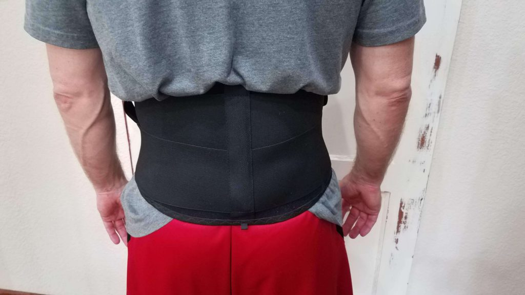 Wearing a back brace for lower back pain