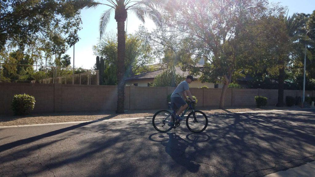 Biking with back pain
