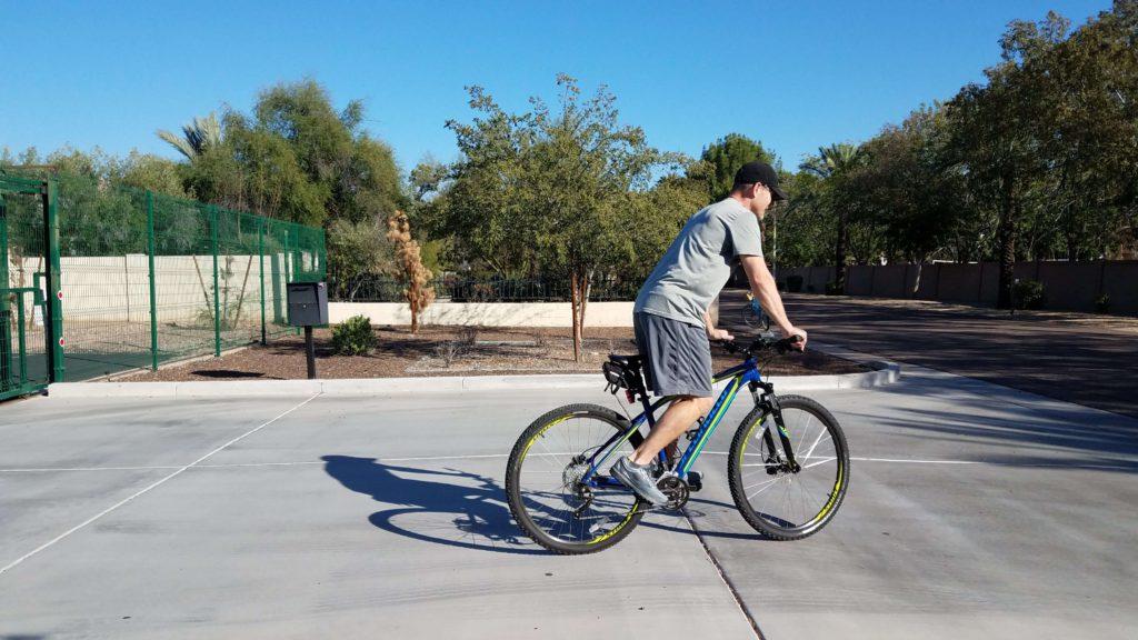 Me biking with a bad back