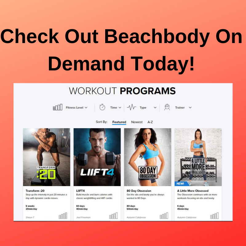 Check out beachbody on demand today