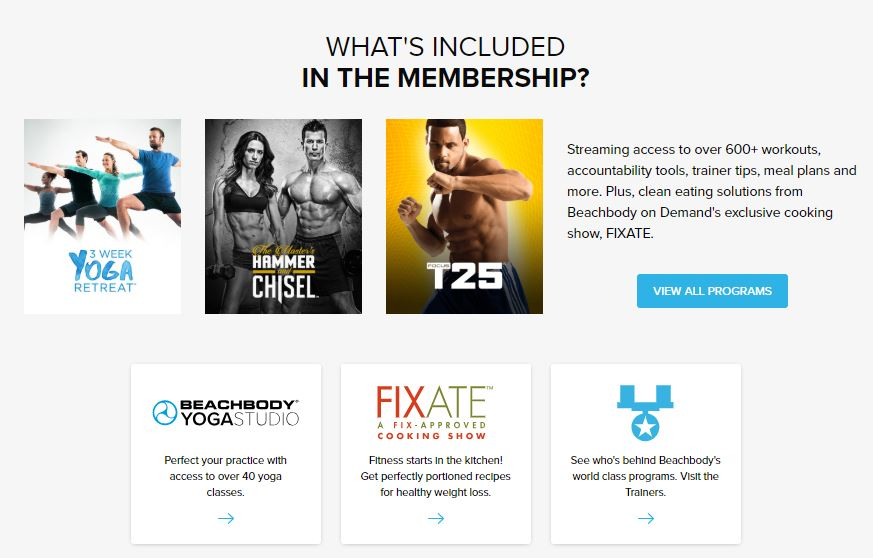 What is included with Beachbody on Demand