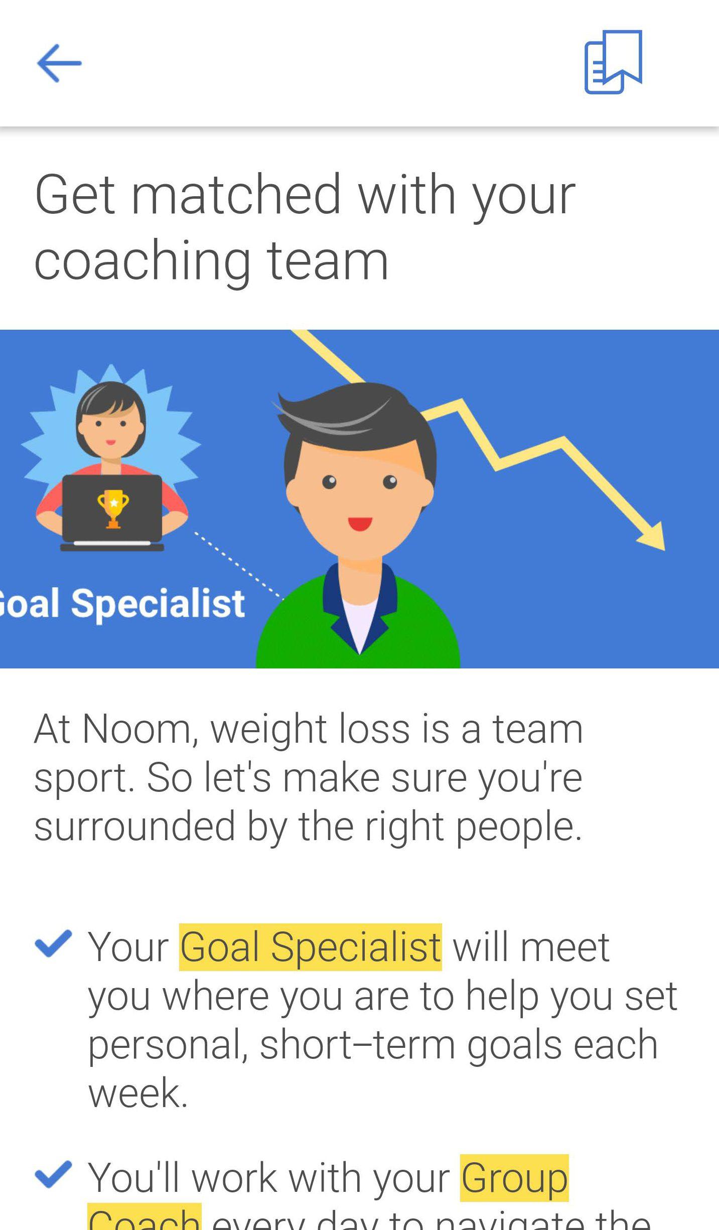 Noom goal specialist