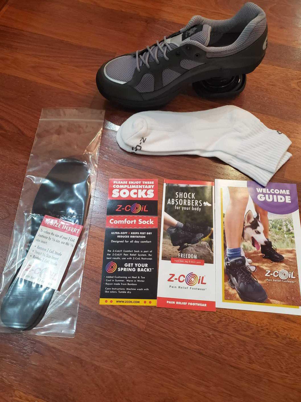 My Z Coil Footwear package